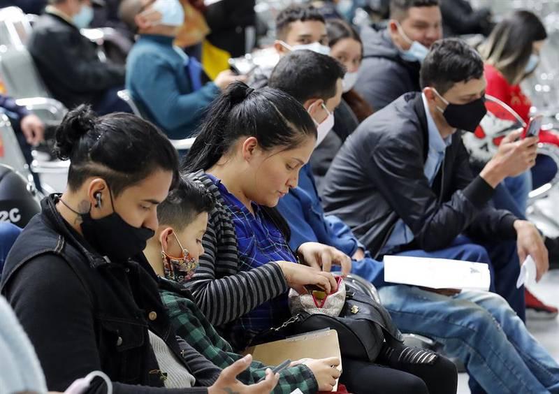 migrantes en Bogotá- EFE