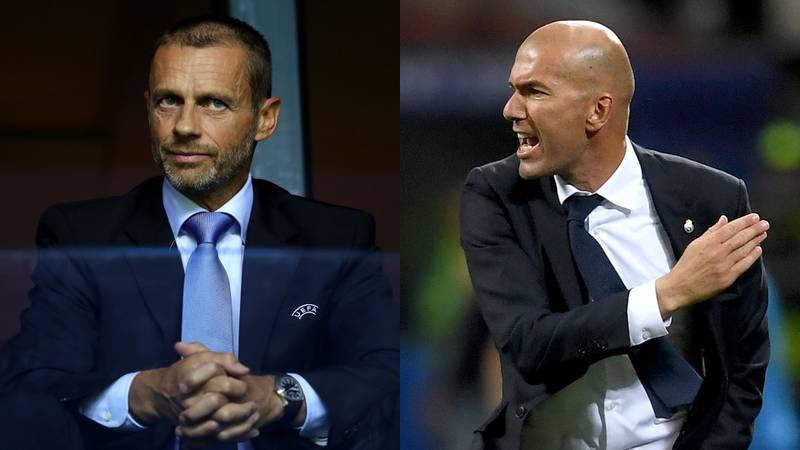 Zinedine Zidane contra Ceferin