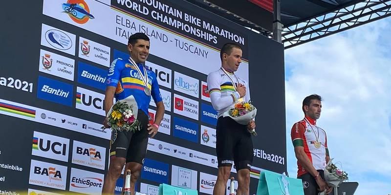 Diego Arias es el nuevo subcampeón mundial MTB Maratón