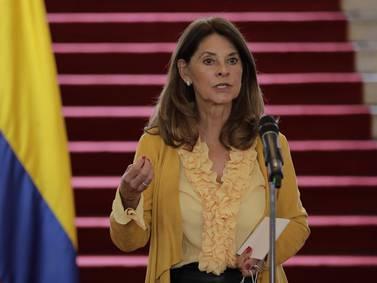 Marta Lucía Ramírez viajará a Italia y Marruecos y se reunirá con el papa
