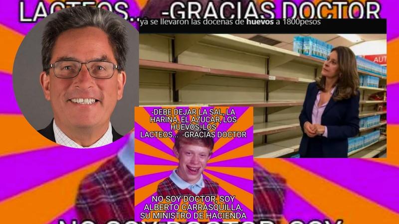 Memes por los huevos de 1800 de ministro de Hacienda