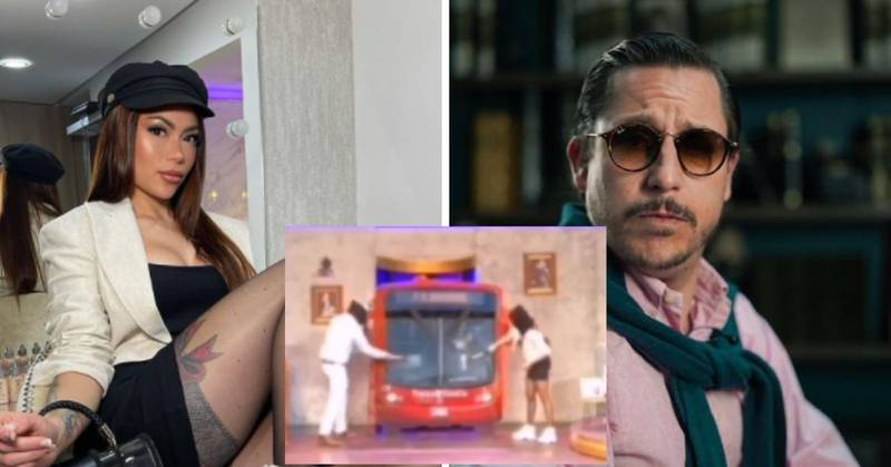 """Epa Colombia y Juanpis González fueron vistos """"destrozando"""" un TransMilenio y un cajero automático"""