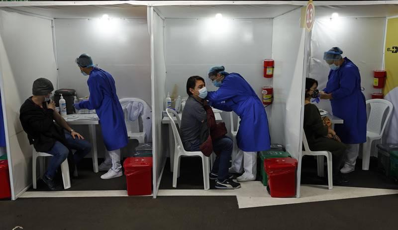 vacunación Bogotá- EFE