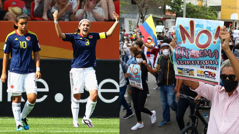 Mensajes de Yoreli Rincón y Natalia Gaitán