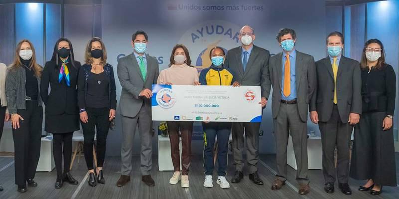 Ingrit Valencia recibe millonaria donación para el sueño de su casa propia