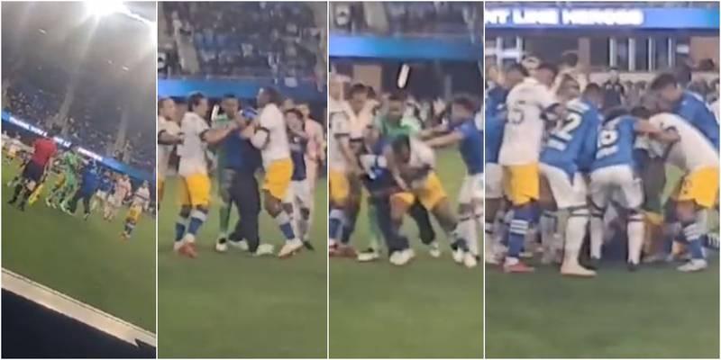 Enmascarado se metió a la cancha y le dio tremendo puño a un jugador