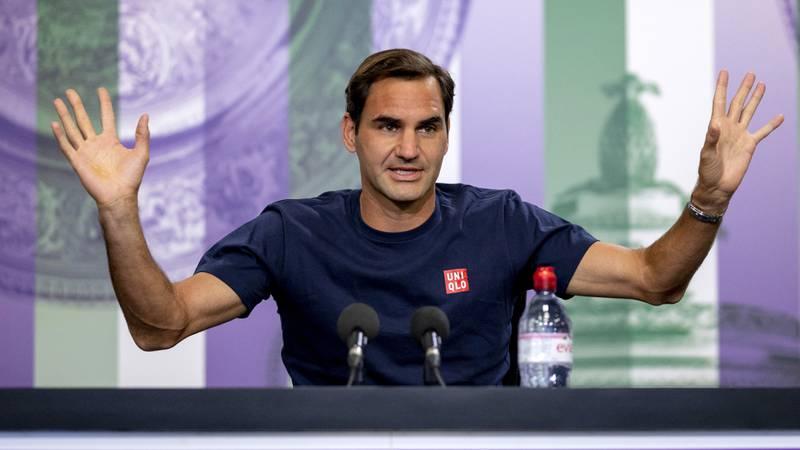 Federer, tras el susto en Wimbledon, se dedicó a hablar de la Eurocopa