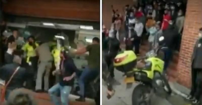 Comunidad por poco lincha a pareja señalada de robar computadores en un centro comercial