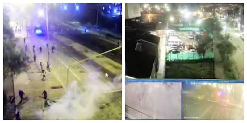 Las imágenes de la cruda noche de enfrentamientos entre manifestantes y policías en Bogotá